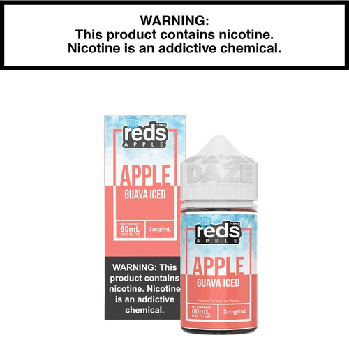 New 7daze Reds Apple Guava Ice Eliquid Packaging.