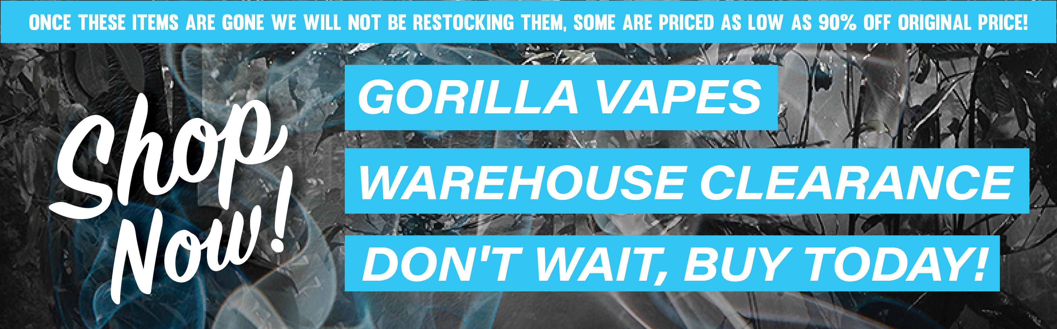 Gorilla Vapes | E-Cigarette | Vaping Products | E-Liquids