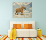 Elephant Walking On Rope Wall Print on the wall