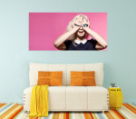 Eyes Painted On Hands Canvas Print on the wall