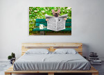 French Bulldog Art Print on the wall