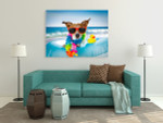 Jack Russel Dog Canvas Print on the wall