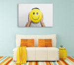 Positive Thinking Canvas Print on the wall
