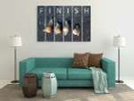 Snail At Finish Line Wall Art Print on the wall