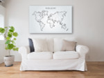 Abstract World Map Canvas Print on the wall