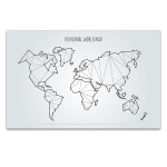 Abstract World Map Canvas Print