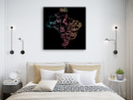 Brazil Map Canvas Art Print on the wall