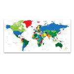 Detailed World Map Of Countries Art Print