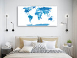 Elements World Map Canvas Art Print on the wall