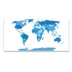 Elements World Map Canvas Art Print
