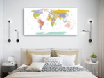 Global Map Wall Print on the wall