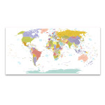 Global Map Wall Print