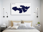 Map Of Middle East Art Print on the wall