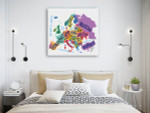 Vector Europe Map Canvas Print on the wall