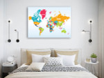 World Map Of Countries Wall Print on the wall