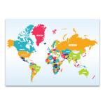 World Map Of Countries Wall Print
