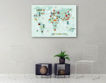 World Travel Map Wall Print on the wall
