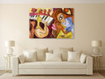 Abstract Jazz Music Wall Print on the wall