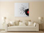 Abstract Music Disk Wall Print on the wall