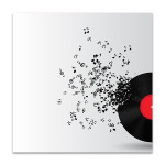 Abstract Music Disk Wall Print
