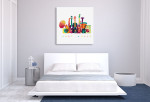 Colourful Music Canvas Print on the wall