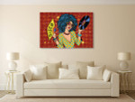 Disco Diva Canvas Art Print on the wall