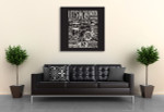 Drums Typography Art Print on the wall