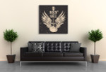 Guitar With Wings Canvas Art Print on the wall