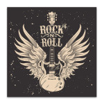 Guitar With Wings Canvas Art Print