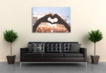 Heart Shape Canvas Print on the wall