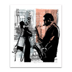 Jazz In New York Wall Art Print