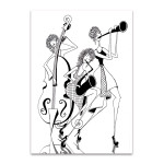 Jazz Trio Wall Art Print