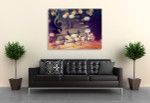 Musical Signs Wall Art Print on the wall