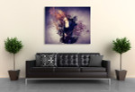Musician Playing Guitar Art Print on the wall