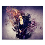 Musician Playing Guitar Art Print