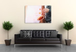 Saxophonist Player Canvas Art Print on the wall