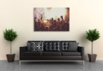 Summer Music Festival Canvas Print on the wall