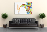 Trombone In Abstract Canvas Print on the wall