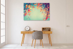 Autumn Leaves In Vintage Art Print on the wall