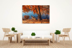 Autumn River Ashore Art Print on the wall