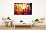 Autumn Sun Rays Canvas Print on the wall