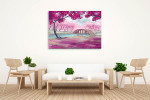 Cherry Blossoms In Spring Canvas Art Print on the wall