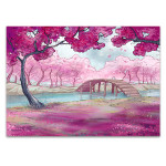 Cherry Blossoms In Spring Canvas Art Print