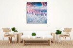 Colourful Morning Art Print on the wall