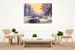 Cool Winter Scene Wall Print on the wall