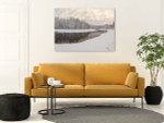 Frozen River Canvas Print on the wall
