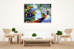 Green Foliage Canvas Art Print on the wall