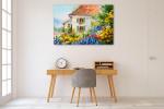 House In Flower Garden Canvas Art