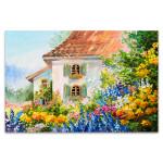House In Flower Garden