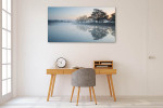 Lake In Mist Wall Art Print on the wall